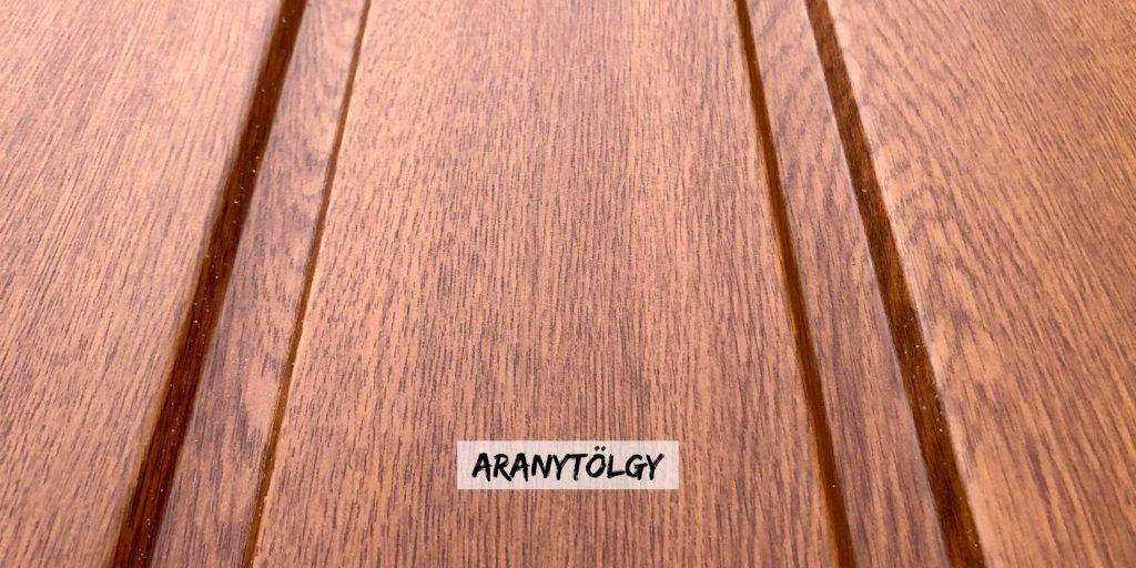 T8 aranytölgy fa hatású kerítés szín