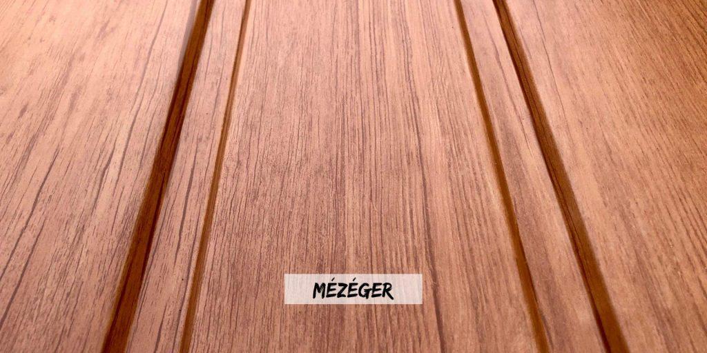 T8 mézéger fa hatású kerítés szín